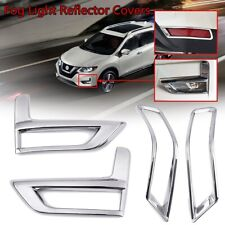 For 2017-2019 Nissan Rogue X-Trail Fog Light Cover Reflector Chrome Accessories