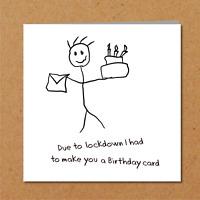 Funny Lockdown Self Isolation Virus Quarantine Birthday Card - Amusing Humour