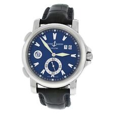 Authentic Mens Ulysse Nardin Dual Time Big Date 243-55 Steel Automatic Watch