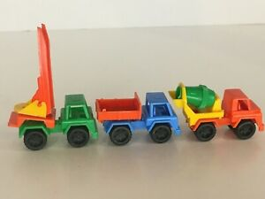 Bruder West Germany Toy Trucks Plastic Colorful Construction Cement Mixer Ladder