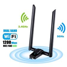 1200Mbps USB Wifi Adapter USB 3.0 Wireless Network Wifi Dongle with 5dBi for PC
