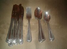 Bakers & Chefs Flatware - 31 Pieces - Needlepoint Pattern