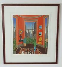 THOMAS McKNIGHT, Park Avenue Penthouse serigraph, Framed  NEW PRICE
