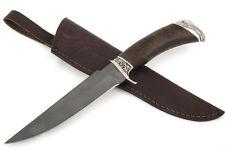 "Russian hunting knife ""Hunter"".steel-cast Bulat.Handmade.64HRC.Karelian birch"