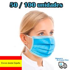 mascarilla facial descartable / face mask Proteccion 10/50/100 pcs