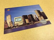 RARE POSTCARD Macintosh at the WTC NYC Skyline -1986 from Apple Computer Rainbow