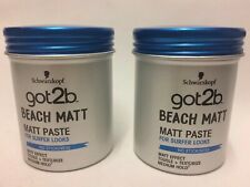 2x Schwarzkopf Got2b Beach Matt Paste Surfer Look 100ml