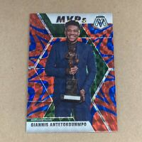 2019-20 Panini Mosaic Giannis Antetokounmpo MVP Red Orange Reactive Bucks NBA