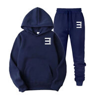 Eminem Casual Pullover Tracksuit Rap Fans Edition Thin Hoodie&Pants Set Outfits
