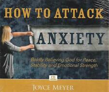 HOW TO ATTACK ANXIETY    4 CDS       FACTORY SEALED      Joyce Meyer