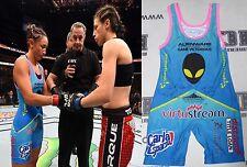 Carla Esparza Signed UFC 185 Fight Worn Used Singlet PSA/DNA Autograph vs Joanna