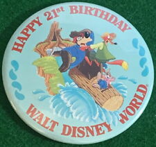 Wdw Disney Happy 21st Birthday Splash Mountain Cast Member Button Pin Pp #13793