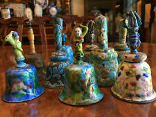 Group of Nince Chinese Qing Dynasty Enameled Bells.