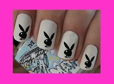 Nail Art Decals Playboy Bunny Transfers Stickers Wraps Foils Nail Manicure X 40