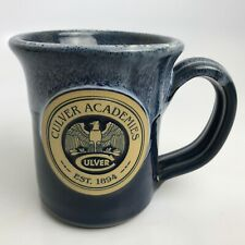 Culver Academies Blue Deenan Pottery Hand Thrown Coffee Tea Mug Cup