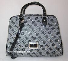 GUESS by Marciano SKYA Studded Box Dome Satchel Bag Purse Handbag Monogram New