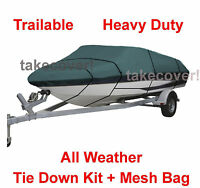 Crestliner 1650 Fish Hawk Boat Cover CQ Trailerable All Weather B3695G