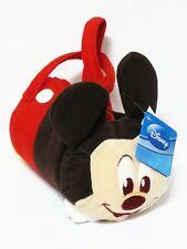 Mickey Mouse Cylinder Plush Handbag Women Girl's Purse Bag Disney