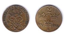 SUECIA SWEDEN 1941 2 ORE   CU  XF-   KM:778