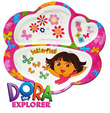 New listing Dora The Explorer Melamine Divided Plates Kids Designs Butterfly 3 Section 2013