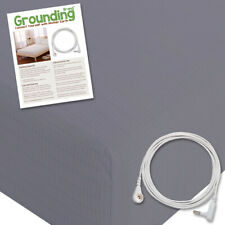 Grounding Brand Queen Size Earthing Sheet with Connection Cable,Grey
