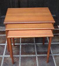 mid century design - Denmark vintage 60s Nesting Table 3er Set Teak Tische ~60er