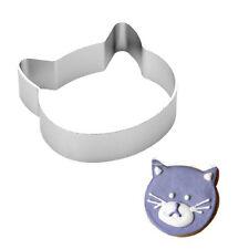 Cat Head Shaped Aluminium Alloy Fondant Cookie Cake Sugarcraft Plunger Cutter