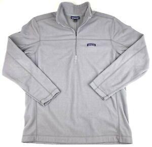 Patagonia Sweater 1/4 Zip Fleece Gray Men's Size Large