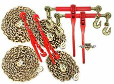5/16 Transport Package - (2) Lever & Ratchet Binders - (2) 10' & 20' Foot Chains