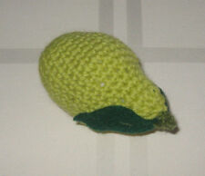 1 Hand Crochet  PEAR pretend PLAY FOOD amigurumi TODDLER FUN TOY