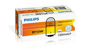 Philips RY10W Vision Conventional Interior &Signaling 12V10W 12093NACP (10 Pack)