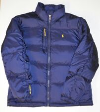 POLO RALPH LAUREN MEN'S FULL ZIP RL/250 DOWN PUFFER JACKET COAT NAVY SIZE LARGE