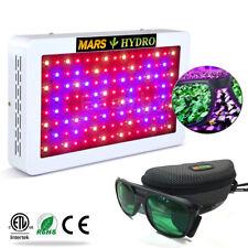 Mars 600W LED Grow Light Panel &LED Glasses Full Spectrum medical Veg Bloom Herb