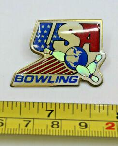 Bowling Team USA Bowling Collectible Pin Bowling Ball 3 Pins Vintage