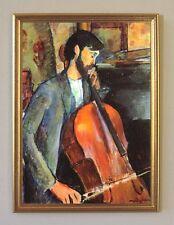 Amedeo Modigliani Violoncello um 1909 Büttenfaksimile 30x42cm 5 im Goldrahmen
