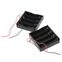 5 Pcs Li-ion Plastic Battery Storage Case Cover Holder for 4x3.7V 18650 DIY