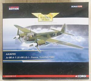 CORGI AVIATION AA36705: JUNKERS JU-88 A-1 LG-I/III LG-1 - France Summer 1940 MIB