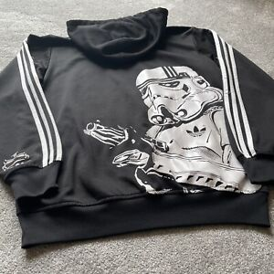MENS Adidas STAR WARS Storm Trooper Full Zip Hoodie XL