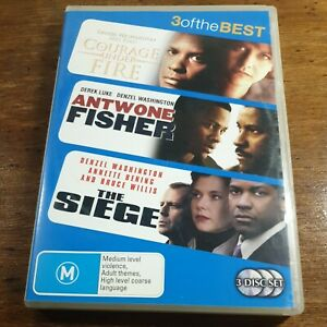 Courage Under Fire Antwone Fisher The Siege Triple DVD R4 Like New! FREE POST