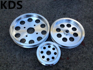 Underdrive pulley for Nissan Skyline R32 R33 R34 RB20 RB25 RB26 3PCS