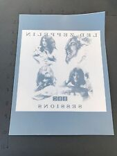 Led Zeppelin BBC Sessions Promotional Window Cling NEW RARE VINTAGE PROMO STICKR