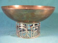 Vintage Hagenauer Art Deco Brass Bowl With Golfing Base