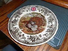 QUEEN'S Quintessential Game Thanksgiving Turkey Salad Plate s  Made in England