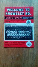 Rugby League programme St Helens Saints v Workington Town 1st Div 23/12/1979