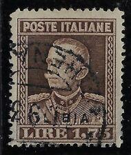 1930 colonie italiane Libia 1,75 dent 13 1/4 cat 94 usato Rarissimo cert Colla