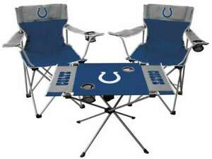 Indianapolis Colts  3 Piece Tailgate Kit - 2 Chairs - 1 Table