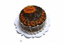 Chocolate Halloween Cake Pumpkin Dollhouse Miniatures Bakery Holiday Season 19