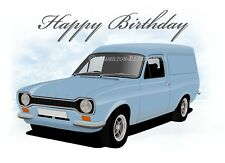 Ford Escort Van Birthday Card + Additional Key Ring, Magnet, Coaster & Gift Set