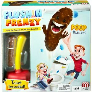 Flushin' Frenzy Game - Push the Plunger 'til the Poop Pops Out! FWW30 GIFT KIDS