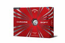 Newest 2019 Callaway Chrome Soft Golf Balls White 1 Dozen (12) Sealed Boxes